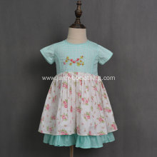 New style wholesale twill floral baby girls dresses